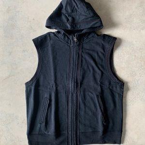 Gap Vintage Navy Cotton Hoddie Vest